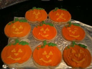 pumpkin group cookies
