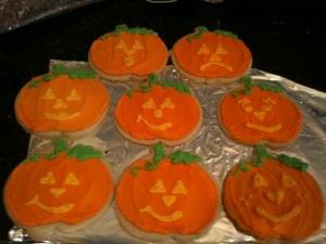 pumpkin group cookies