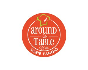 around the table orange and lighter green logo